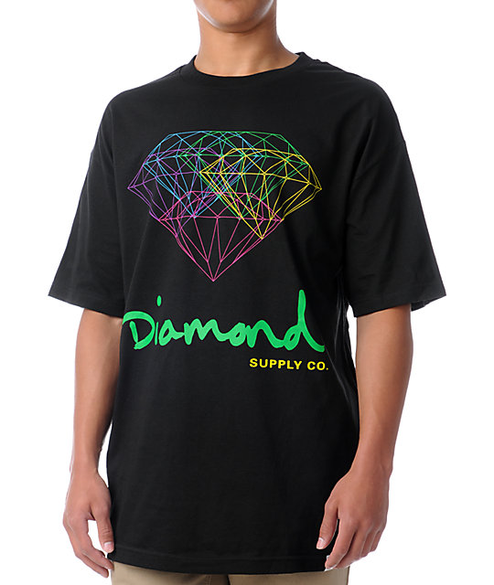 Diamond Supply Co All For One Black T-Shirt