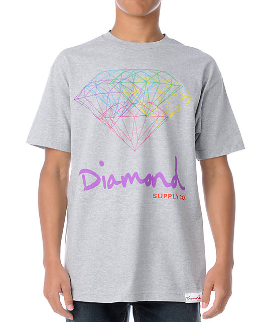 Diamond Supply Co All For One Heather Grey T-Shirt