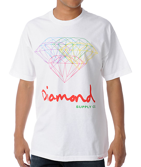 Diamond Supply Co All For One White T-Shirt