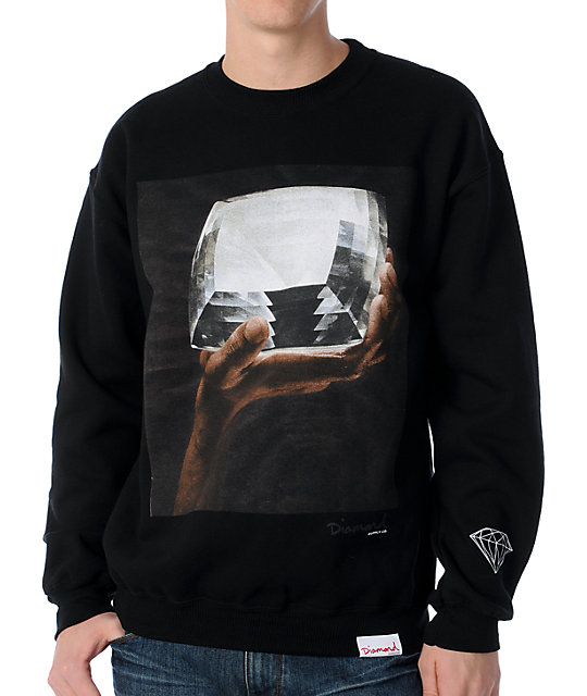 Diamond Supply Co Almighty Black Crew Neck Sweatshirt