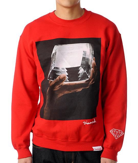 Diamond Supply Co Almighty Red Crew Neck Sweatshirt