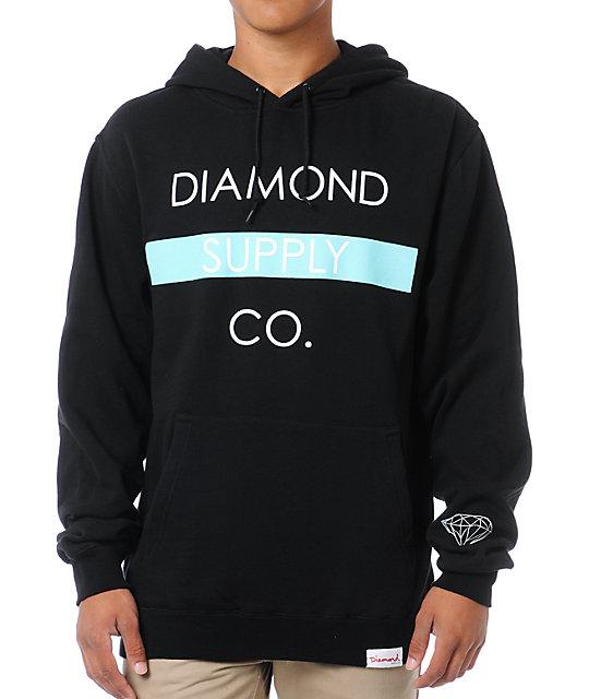 Diamond Supply Co Bar Logo Black Pullover Hoodie
