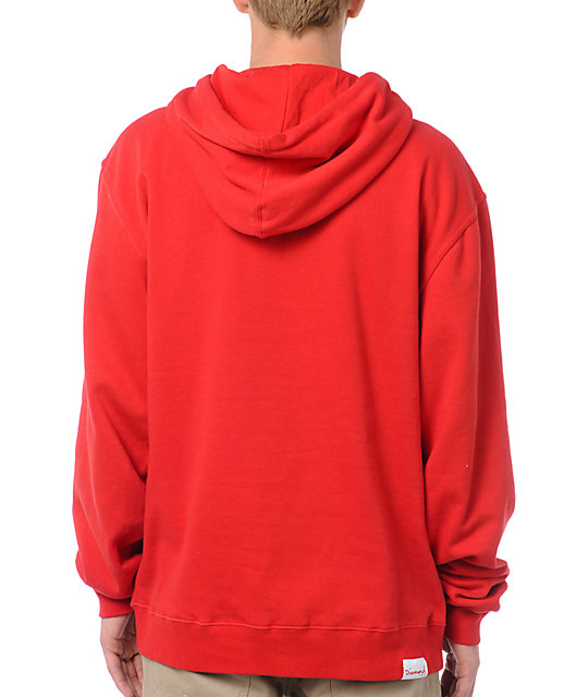 Diamond Supply Co Bar Red Pullover Hoodie