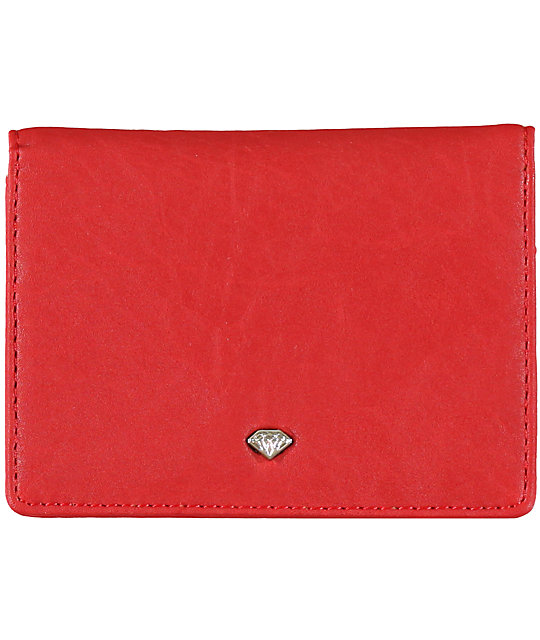Diamond Supply Co Bi-Fold Red ID Wallet