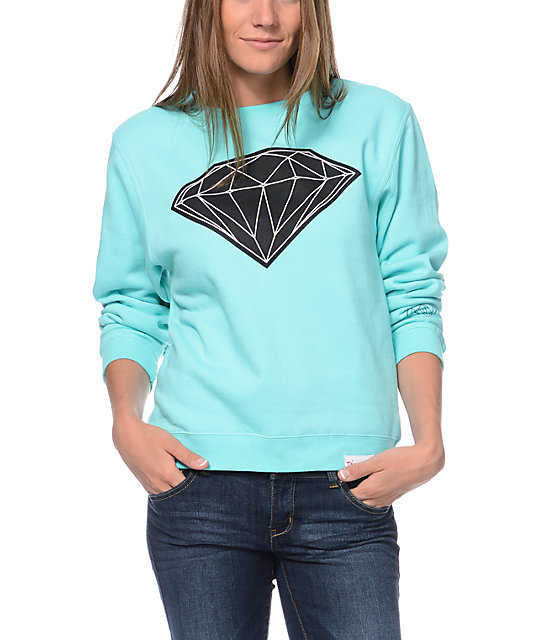 Diamond Supply Co Big Brilliant Mint Crew Neck Sweatshirt