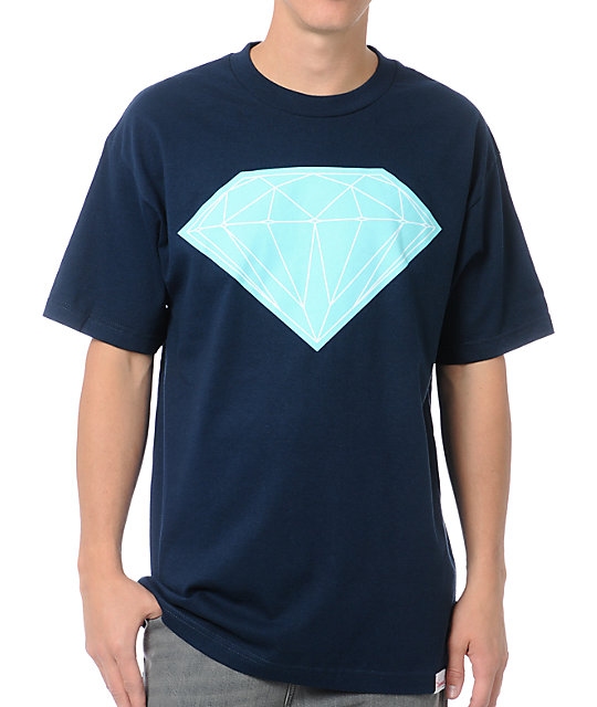 Diamond Supply Co Big Brilliant Navy Blue T-Shirt