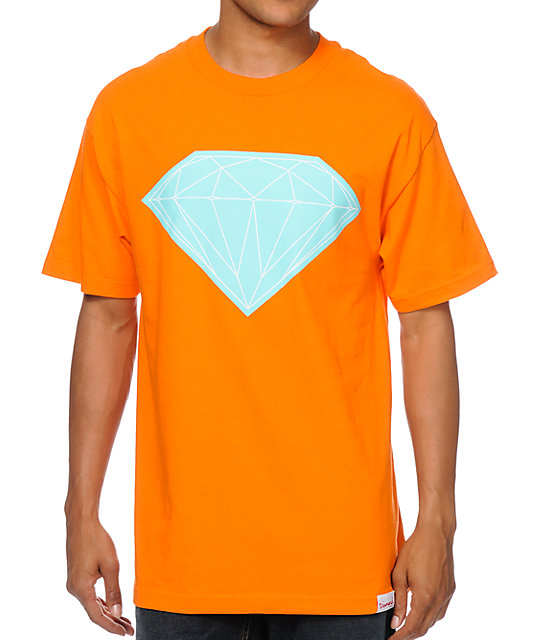 Diamond Supply Co Big Brilliant Orange & Mint T-Shirt