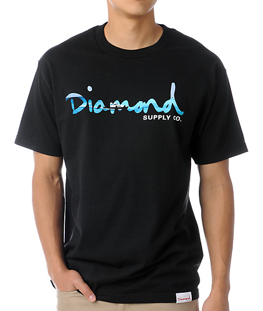 Diamond Supply Co Black OG Yacht T-Shirt
