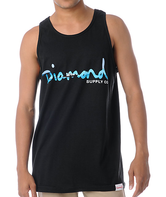 Diamond Supply Co Black OG Yacht Tank Top