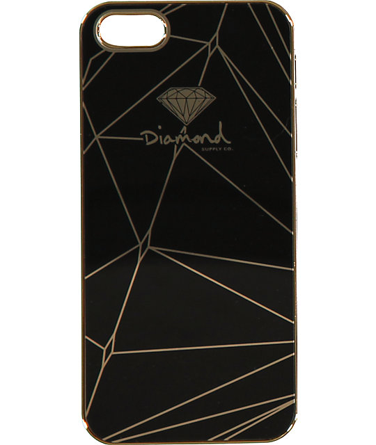 ... Iphone 5s Case Diamond supply co black u0026 gold iphone 5 snap on case at