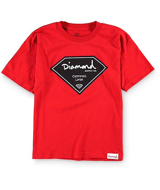 Diamond supply co boys certified lifer t shirt at zumiez pdp for Wholesale diamond supply co shirts