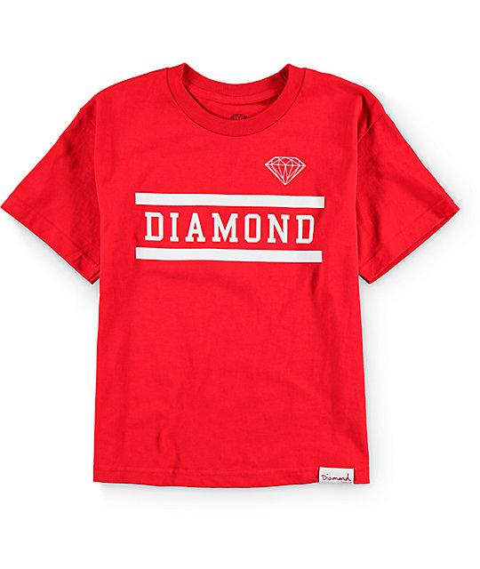 Diamond supply co boys collegiate t shirt for Wholesale diamond supply co shirts
