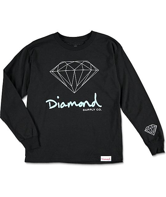 139ab04c ... Diamond Apparel: Diamond Supply Co Boys OG Sign Long Sleeve T-Shirt At