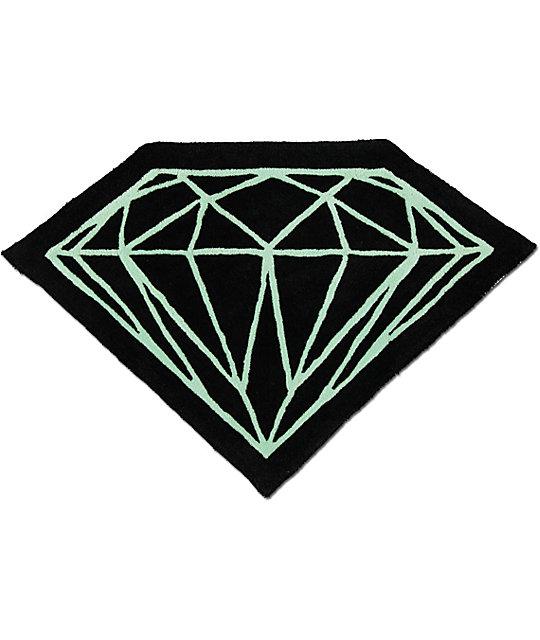 Diamond Supply Co Brilliant Black & Diamond Blue Rug