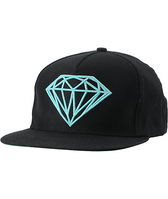 Diamond Supply Co Brilliant Black & Diamond Blue Snapback Hat