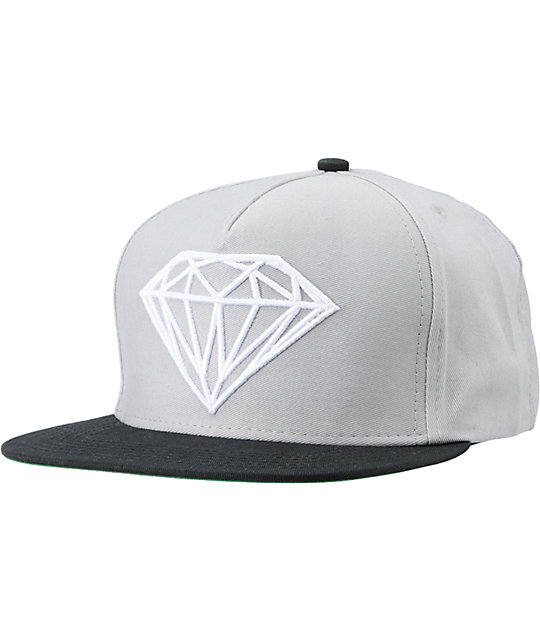 Diamond Supply Co Brilliant Black & Grey Snapback Hat