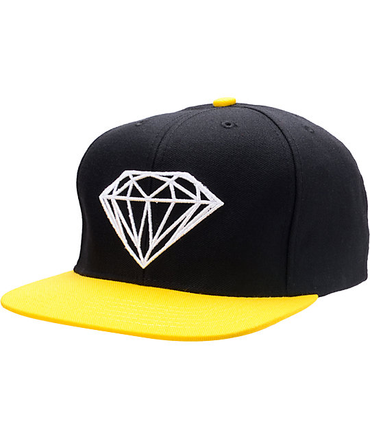 Diamond Supply Co Brilliant Black & Yellow Snapback Hat