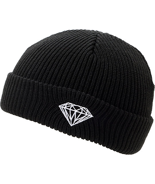 Diamond Supply Co Brilliant Black Fold Beanie