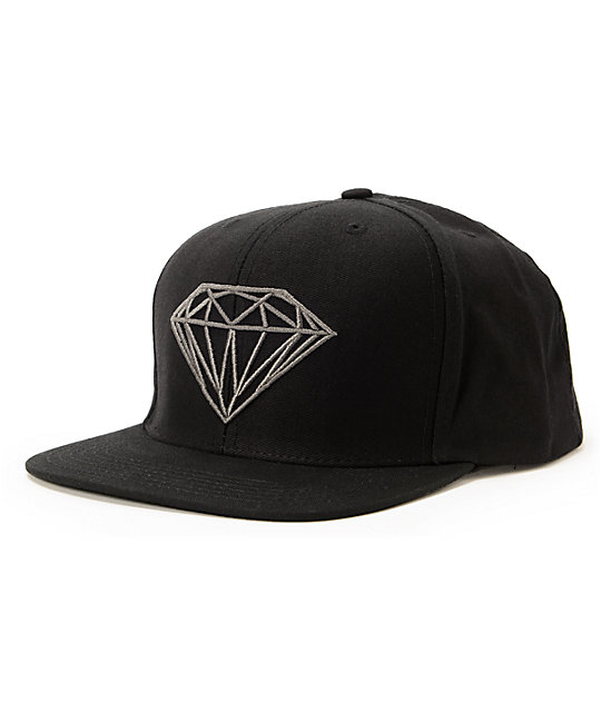 Diamond Supply Co Brilliant Black Snapback Hat