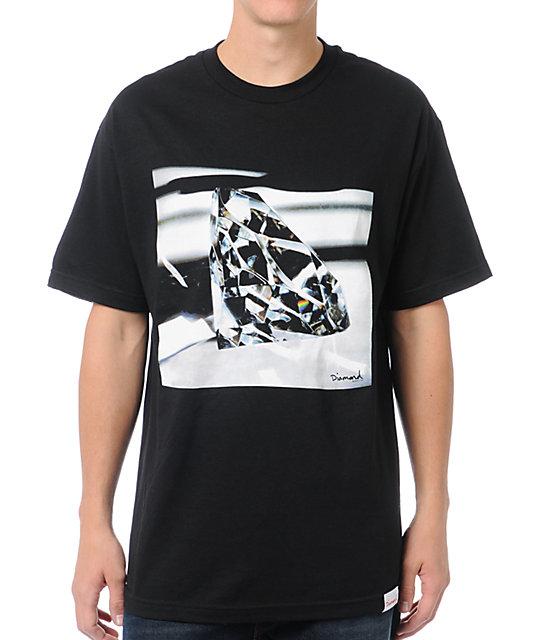 Diamond supply co brilliant glass black t shirt for Wholesale diamond supply co shirts