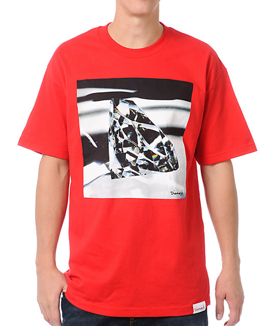 Diamond Supply Co Brilliant Glass Red T-Shirt