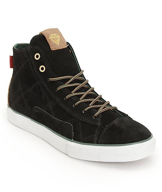 Diamond Supply Co Brilliant Hi Black Skate Shoes