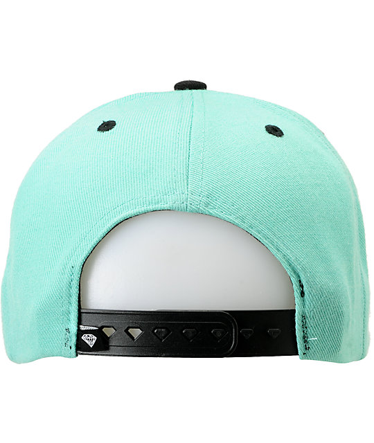 Diamond Supply Co Brilliant Mint & Black Snapback Hat