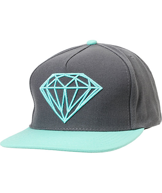 Diamond Supply Co Brilliant Mint & Grey Snapback Hat