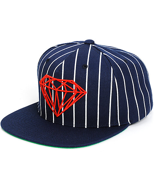 Diamond Supply Co Brilliant Pinstripe Snapback Hat