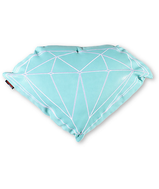 Diamond Supply Co Brilliant Teal & White Pillow