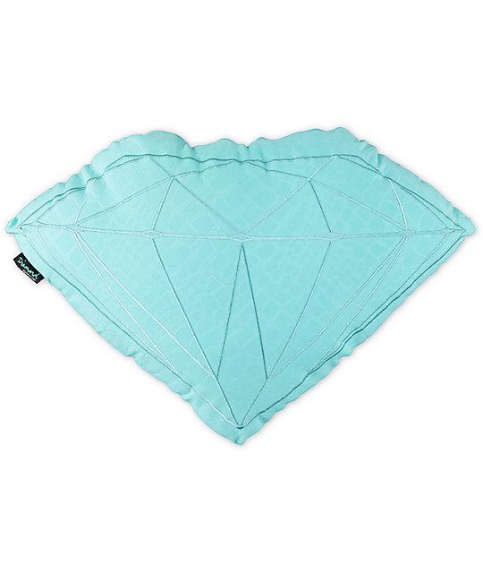 Diamond Supply Co Brilliant Teal Croc Pillow