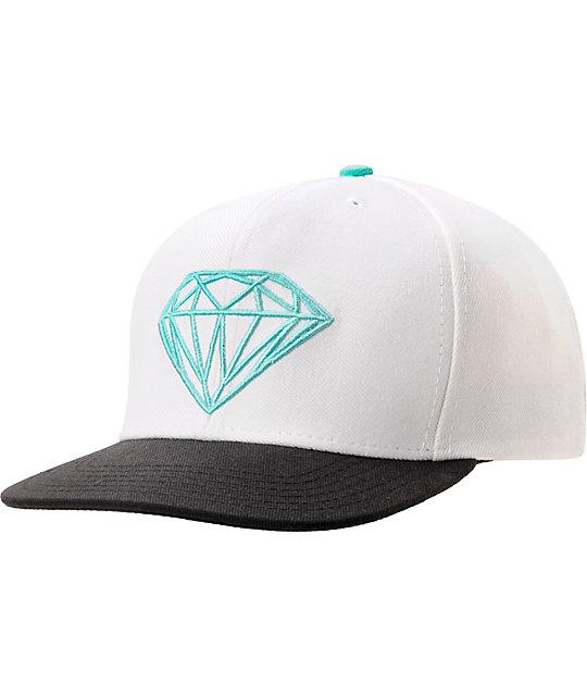Diamond Supply Co Brilliant White & Black Snapback Hat