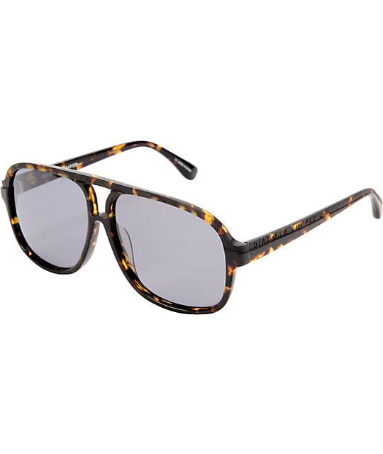 Diamond Supply Co Brown Tortoise Aviator Sunglasses