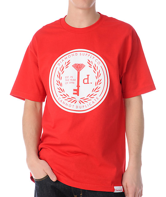 Diamond Supply Co Cannot Duplicate 3 Red T-Shirt