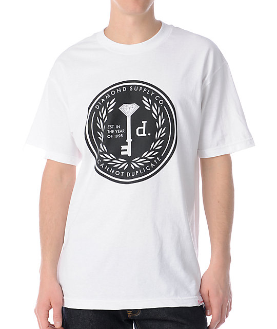 Diamond Supply Co Cannot Duplicate 3 White T-Shirt