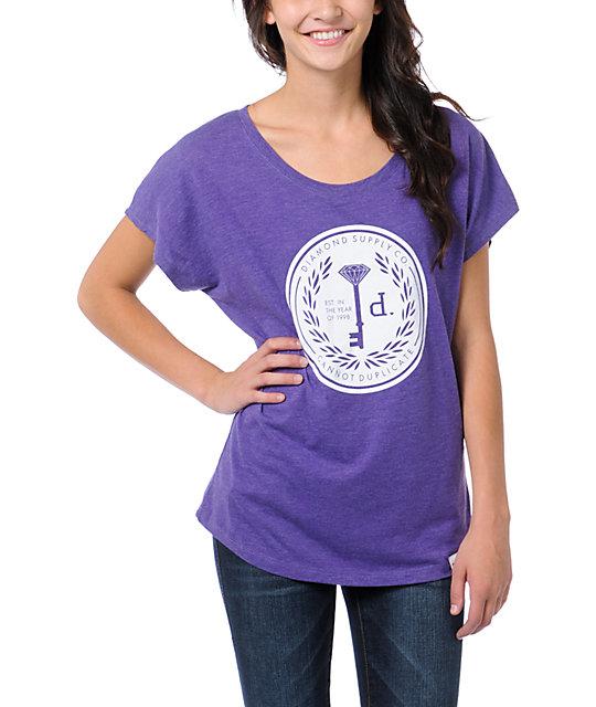 Diamond Supply Co Cannot Duplicate Purple Dolman T-Shirt