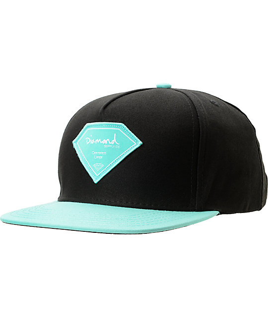 Diamond Supply Co Certified Lifer Black & Blue Snapback Hat