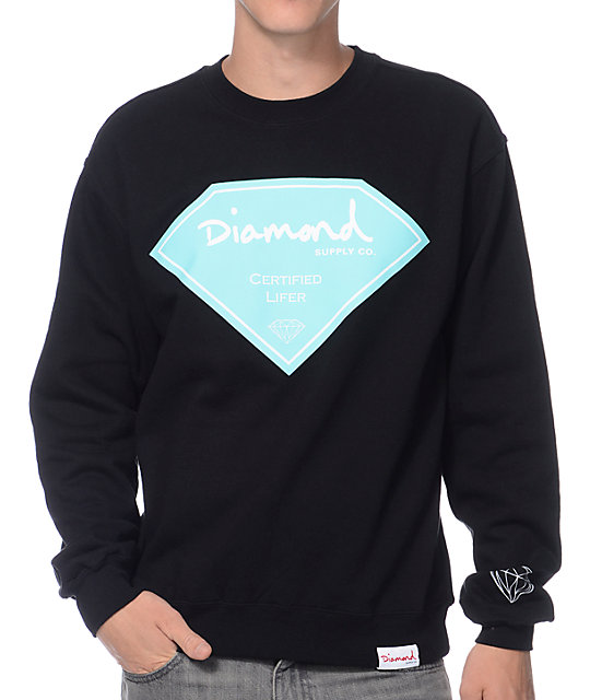 Diamond Supply Co Certified Lifer Black Crew Neck Sweatshirt