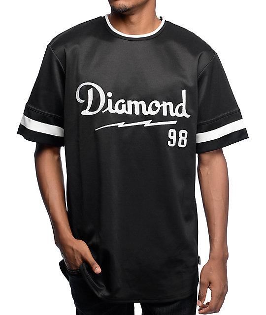 Diamond Supply Co Champagne Script Black Jersey