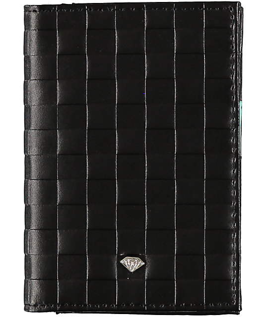 Diamond Supply Co Check Black Embossed Bifold Wallet