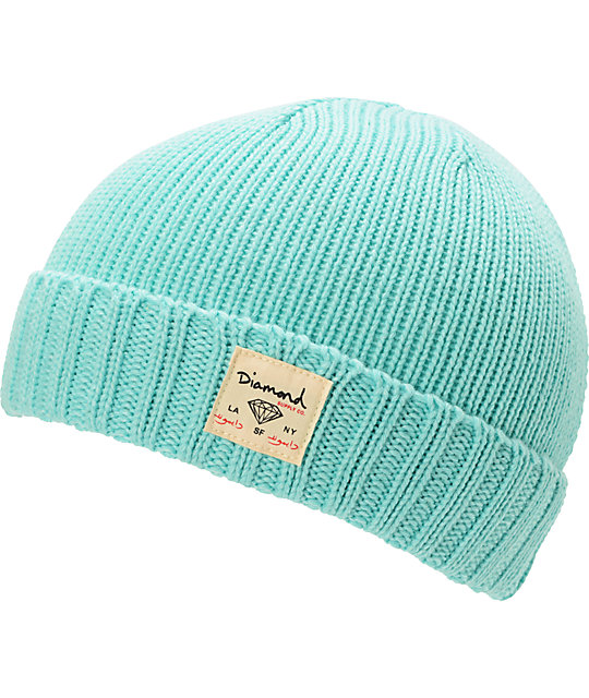 Diamond Supply Co City Cuff  Mint Beanie