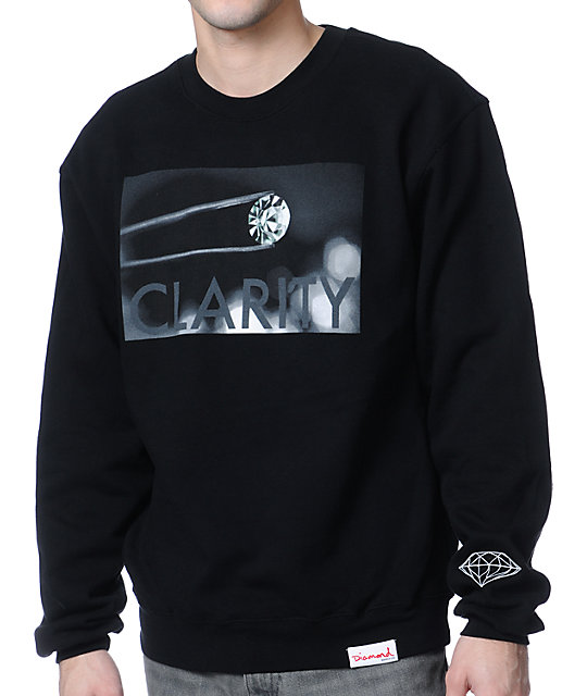 Diamond Supply Co Clarity Black Crew Neck Sweatshirt