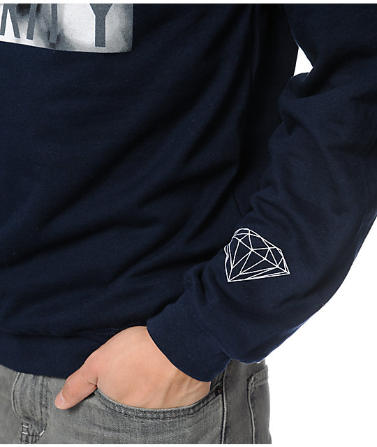Diamond Supply Co Clarity Navy Crew Neck Sweatshirt