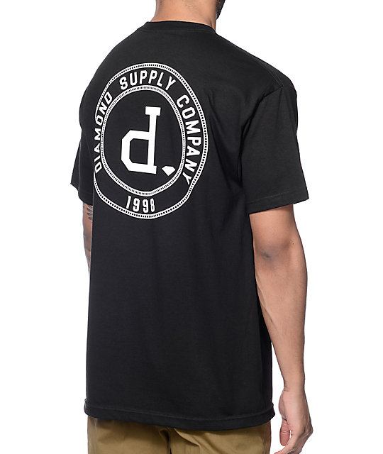 Diamond Supply Co College Seal Black T-Shirt