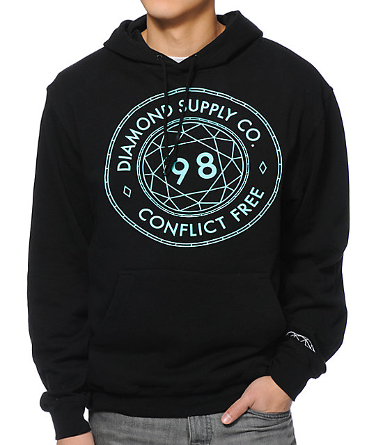 Diamond Supply Co Conflict Free Black Pullover Hoodie