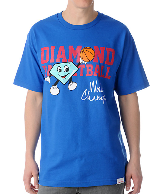 Diamond Supply Co Cutty Champ Blue T-Shirt