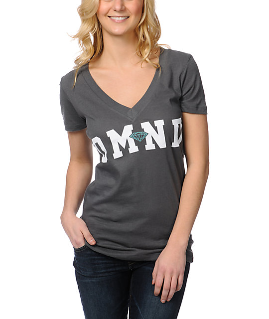 Diamond Supply Co DMND 98 Charcoal V-Neck T-Shirt