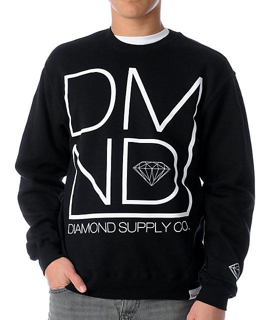 Diamond Supply Co DMND Black Crew Neck Sweatshirt