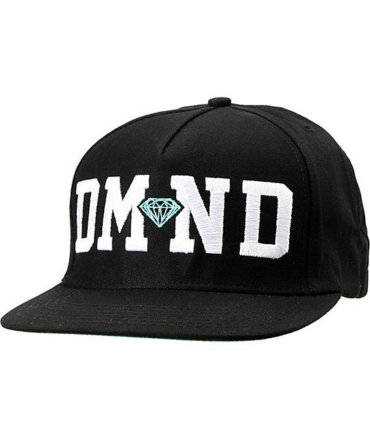 Diamond Supply Co DMND Black Snapback Hat
