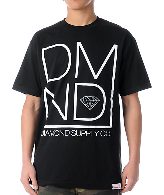 Diamond Supply Co DMND Black T-Shirt